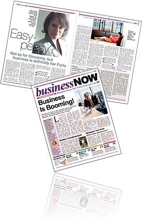 Business Now publication image, graphic designer in Cornwall.
